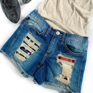 Rock & Republic Distressed Jean Shorts